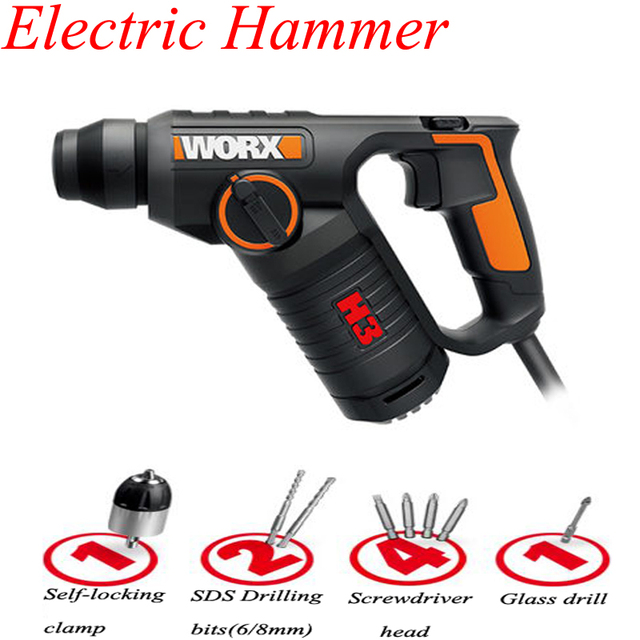 Multi-function Electric Hammer Drill Wall Concrete Impact Drill Household Electric Tool WX346