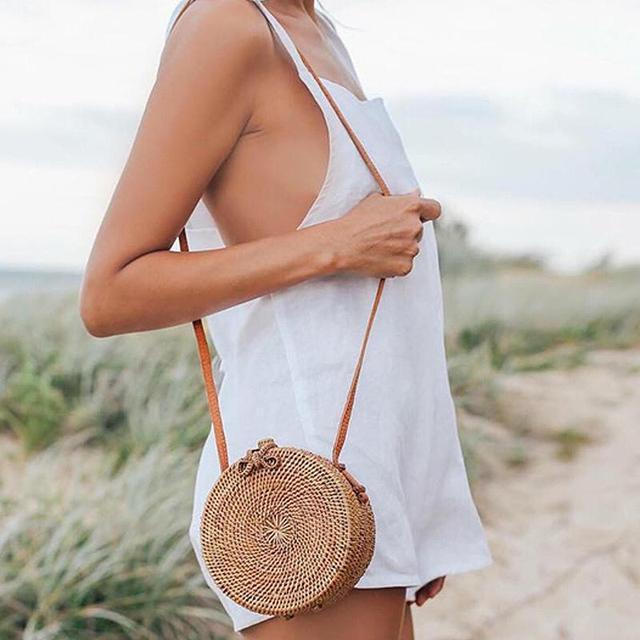 LEFUR 2018 Новый Для женщин круглый Соломенная Сумочка женская летняя ротанга мешок сумки ручной работы леди Повседневное пляжные Сумки Бали bolsas