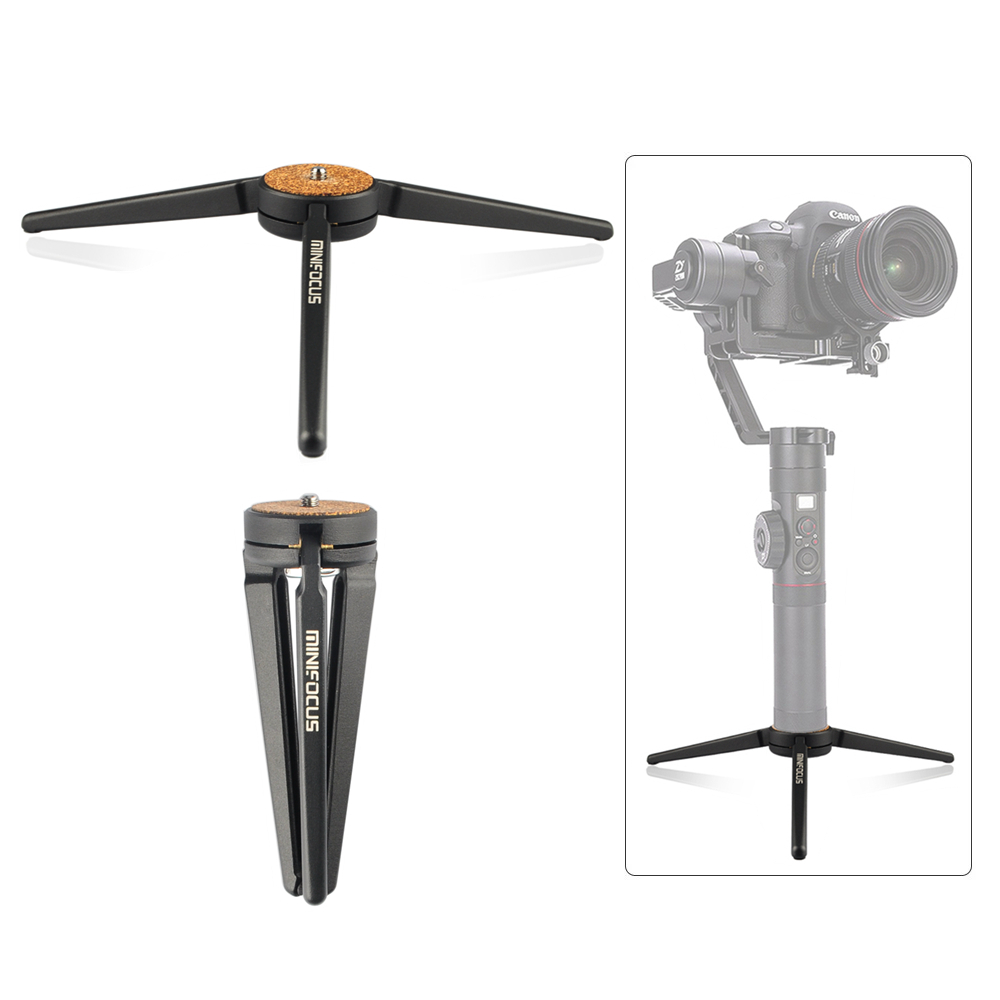 Diligent Aluminum Portable Mini Tabletop Tripod Leg For Dslr Digital Camera Feiyu Osmo Moza Air Handle Gimbal Consumer Electronics Drone Bags
