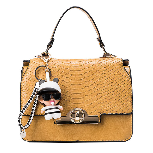 2ecaa133162 Hoge kwaliteit gold lock tas slangenhuid lederen ketting kleine grote  handtassen dames grote boekentassen avond messenger