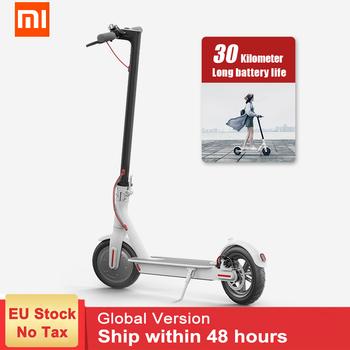 Xiaomi Mijia M365 inteligentny skuter elektryczny deskorolka dorosłych składany Longboard Hoverboard Patinete Electrico 2 koła 30km baterii tanie i dobre opinie 201-500w Unisex 5 5h Dwa koła skuter 8 cal 25km h Approx 12 5 kg Two-wheel Scooter 8 5 inches 16N m IP54