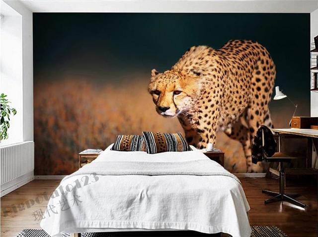 3d tapete individuelle fototapeten für schlafzimmer leopard, Hause deko