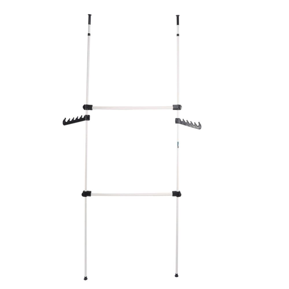281cm 329cm adjustable home bedroom garment rack clothes hanger simple. Black Bedroom Furniture Sets. Home Design Ideas