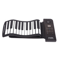Portable Flexible Digital Keyboard Piano 61 Keys 128 Tones 128 Rhythms Electronic Roll Up Piano Children