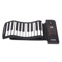 Portable Flexible Digital Keyboard Piano 61 Keys 128 Tones 128 Rhythms Electronic Roll Up Piano Children