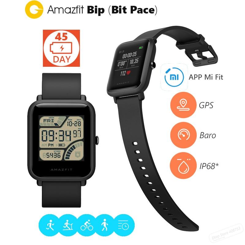все цены на Original Xiaomi Huami Amazfit Smart wirstband Bip Bit Face Youth GPS Fitness Tacker Heart Rate Baro IP68 Waterproof smart band онлайн