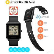 Оригинальный Xiaomi huami Amazfit Smart wirstband Bip бит Уход за кожей лица Youth GPS Фитнес таккера сердечного ритма Баро IP68 Водонепроницаемый Smart Band