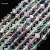Natural Charms Colorful Fluorite Faceted Rondelle 4 5 5 6 6 5mm Beads For Jewelry Making