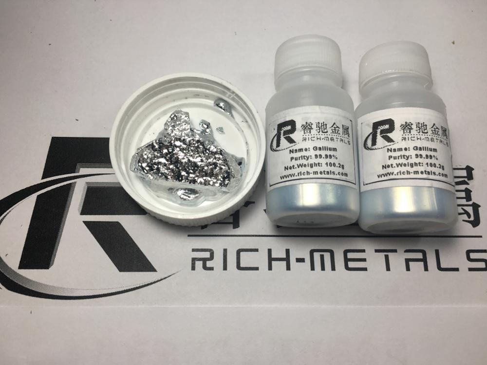 High pure Gallium metal, 100 grams, by Changsha Rich Nonferrous Metals Co.,LtdHigh pure Gallium metal, 100 grams, by Changsha Rich Nonferrous Metals Co.,Ltd