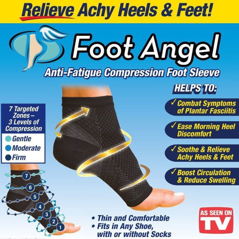 Unisex Anti-fatigue Compression Foot Sleeve Relieve Achy Heels & Feet & Swell Ankle Comf ...
