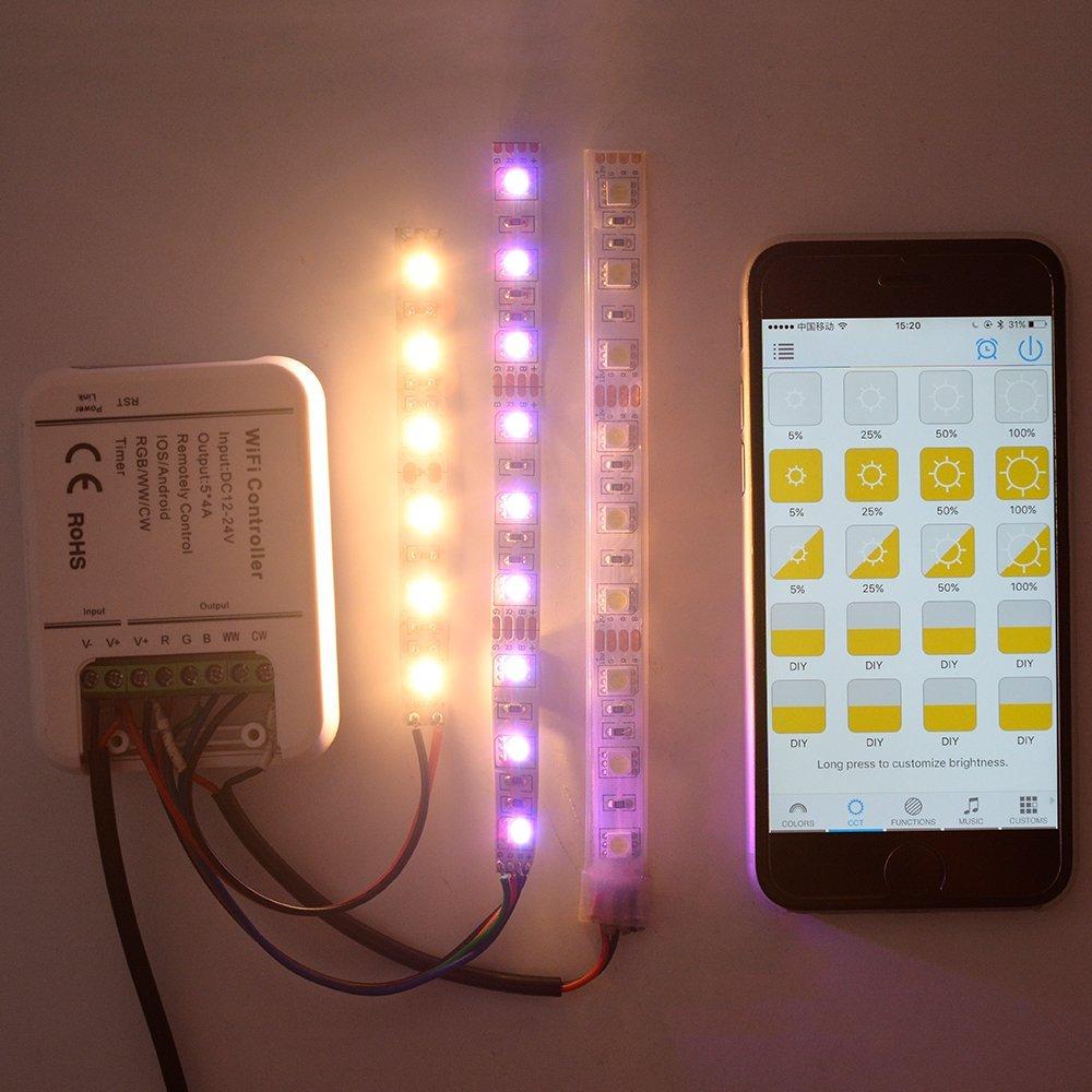 Բնօրինակ 16Million գույներ Wifi 5channels RGB / WW / - Լուսավորության պարագաներ - Լուսանկար 5