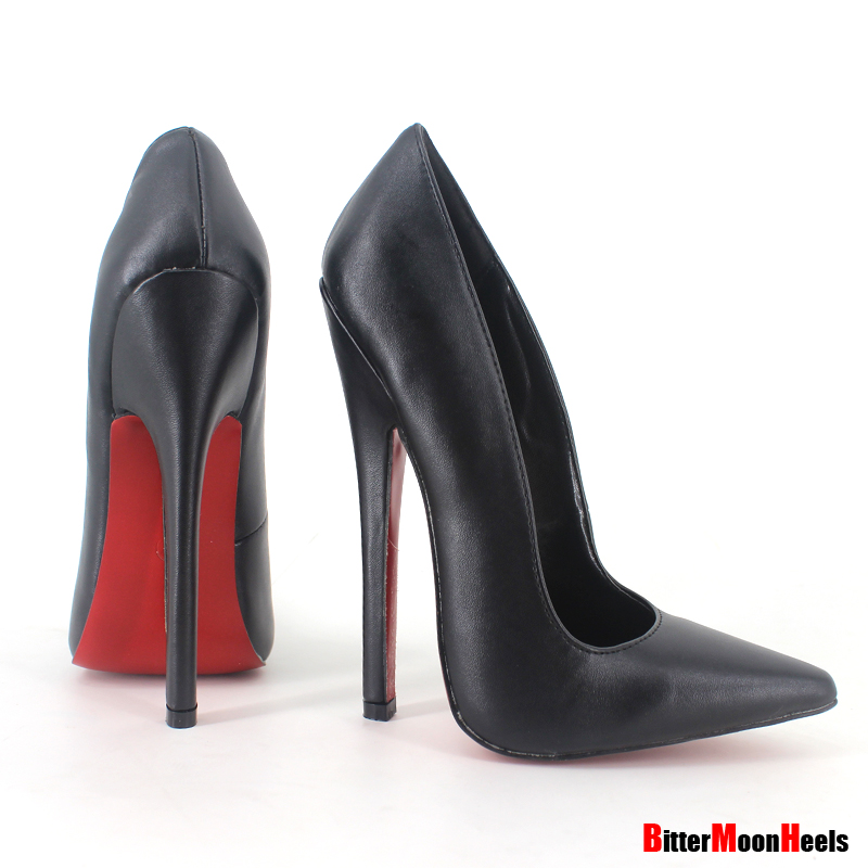 This young 6 inch fetish pumps