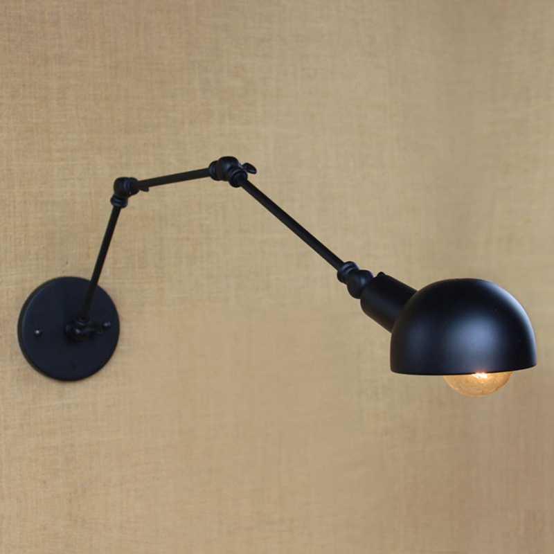 E27 База Ретро промышленный Винтаж Регулируемая настенная лампа из легкого сплава светильник в деревенском стиле приспособления для Офис украшения