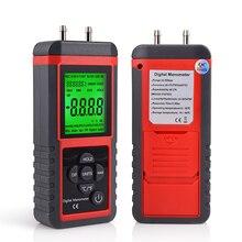 Herramienta para coche Manómetro Digital de 12 unidades, indicador de presión de aire diferencial, Sensor de presión de Gas automático, instrumento