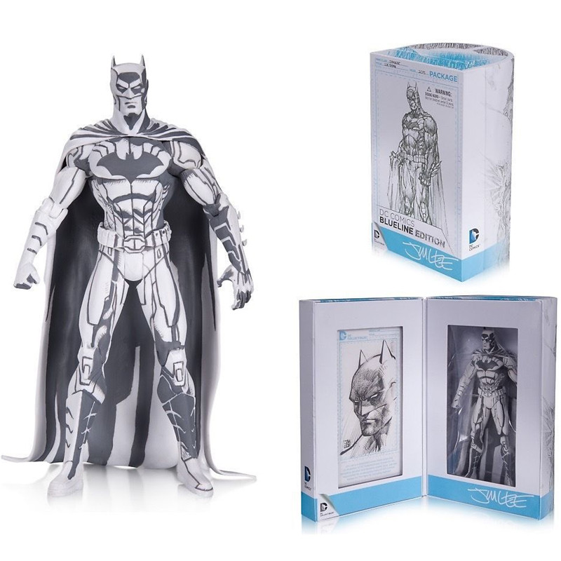 16cm Blueline Edition Batman Action Figures DC Superhero Sketch Version Batman Model for The Fans каталог blueline