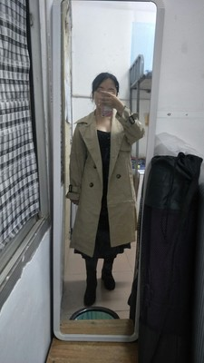 Spring And Autumn Women Fashion Brand Korea Style Waist Belt Loose Khaki Color Trench Female Casual Elegant Soft Long Coat Cloth 52