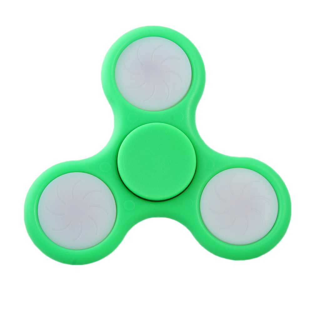 Stress Relief Toy Fidget Spinner Creative LED 8 Color Switch Gyro Attractive Toys For Adult And Childen