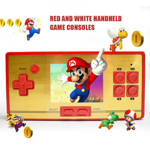 Classic Retro Game Console Handheld Portable 2.6 inch 600+Games Pocket Gift