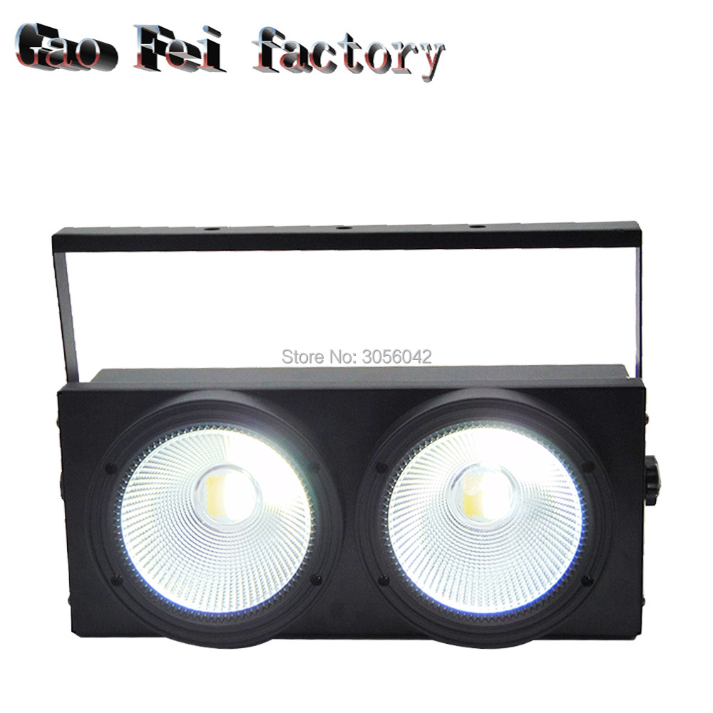 2 eyes 2x100w Cob DMX512 Stage Lighting Effect Warm white cold 200W 2pcs lot 2 eyes 2x100w led cob light dmx512 stage lighting effect warm white and cold white 200w led blinder light fast shipping