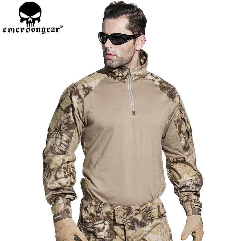 EMERSONGEAR G3 Combat T-shirt Military BDU Army Airsoft Tactical Gear Paintball Hunting Shirt HLD EM8594 emersongear g3 combat shirt pants military bdu army airsoft tactical gear paintball hunting uniform bdu atacs au emerson