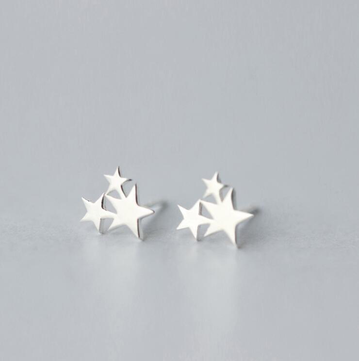 Shuangshuo Ethnic Star Earings Fashion Jewelry 3 Stars Stud Earrings for Women Earrings 2017 Earring Female Gift oorbellen S024