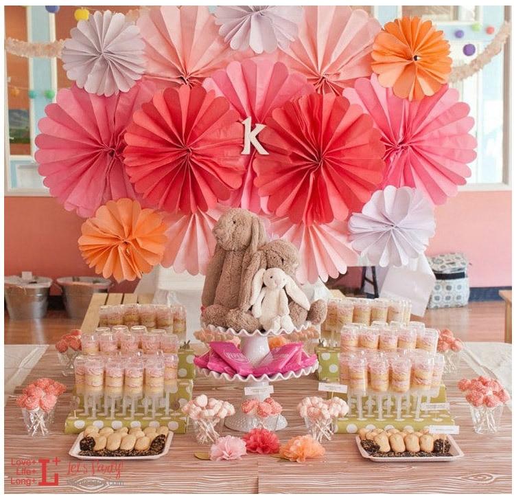 New 5pcs Tissue Paper Fan Diy Crafts Hanging Wedding: 10PCS 35CM 14inch Mix Colors Tissue Paper Fan DIY