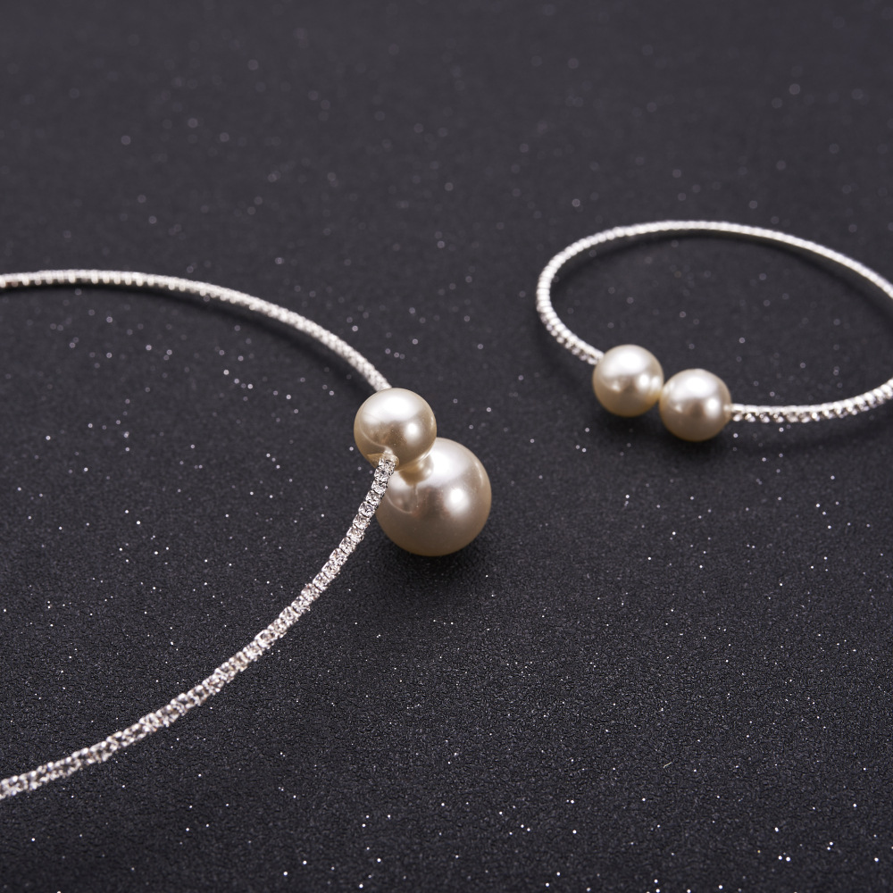 Fashion Simulated Pearl Bridal Jewelry sets For Women 27