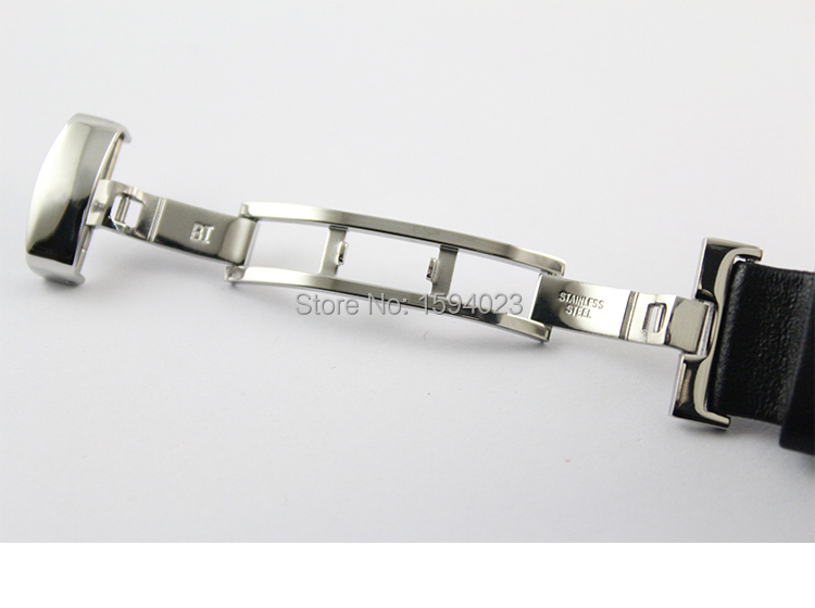 19mm (Buckle18mm) PRC200 T067417 Hög kvalitet Silver Butterfly - Tillbehör klockor - Foto 5