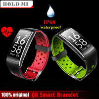 Hold Mi Q8 Bluetooth IP68 Waterproof Smartband Heart Rate Monitor Smart Bracelet Fitness Tracker For Ios