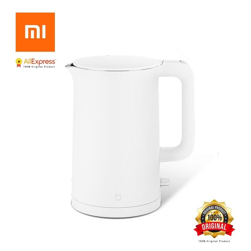 Xiaomi Mijia D'origine Électrique Bouilloire 1.5L Ménage 304 En Acier Inoxydable Isolé Bouilloire Rapide Bouillante pour La Maison Intelligente