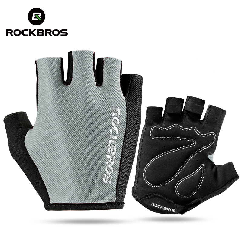 ROCKBROS Cycling Gloves Half Finger Summer Men Women Breathable Polyester MTB Road Sport Bike Bicycle gloves Breathable Washable batfox women cycling gloves female fitness sport gloves half finger mtb bike glove road bike bicycle gloves bicycle accessories