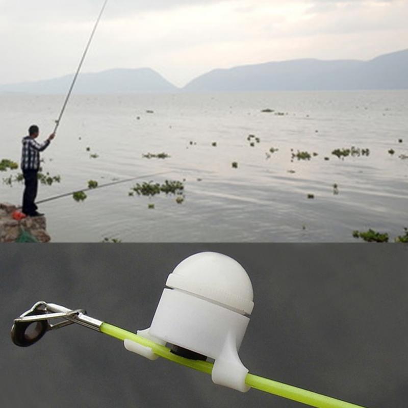 1PC Night Fishing Bell Light LED Fishing Rod Portable Fish Bite Alarm Electronic Outdoor Automatic Sound-light Bite Alarm Device