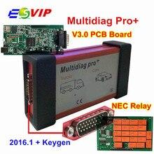 Multidiag Pro Bluetooth,1 Free Keygen OBDIICAT-CDP V3.0 NEC 9241A двойной зеленый PCB OBD2 автомобильный грузовик диагностический инструмент
