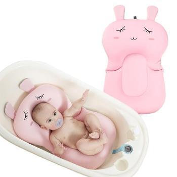 ทารกแรกเกิดชุดว่ายน้ำอ่างทารกพับได้ Air Cushion ที่นั่งสนับสนุน Cushion Bath &