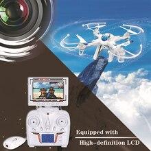 FPV Drone dengan kamera Drone LH-X8DV 2.4G 6-Axis Gyro RC Quadcopter dengan monitor dengan Kembali Otomatis remote control mainan hadiah