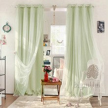 Europe Lace Curtains Solid Blackout Curtains Small fresh Curtains Ready Made Custom-made Free Shipping