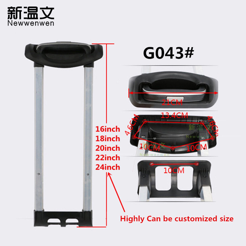 Replacement Telescopic Luggage parts Handle,Repair Aluminum Trolley Built Tie Rod,Handles for Suitcases G043#