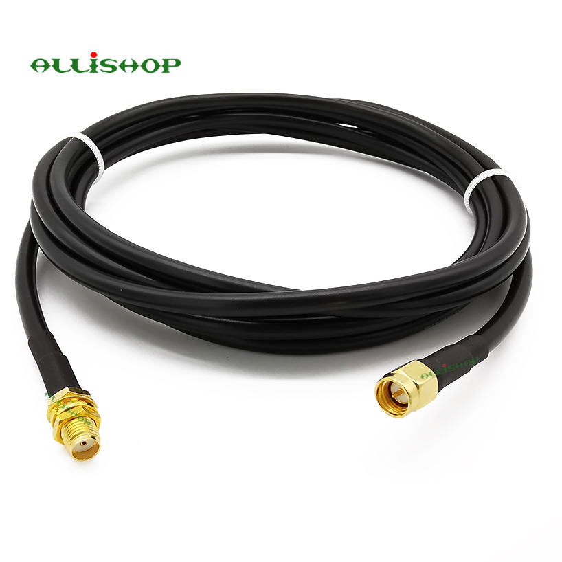 SMA Cable RG58 SMA Connector SMA male to SMA female coaxial RG58 cable wifi plug to jack antenna SMA Extension cable 1 15M|Connectors|   - AliExpress