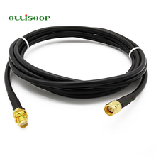 SMA Connector SMA male to SMA female  Extension wifi RG58 cable plug to jack antenna cable coaxial cable 1M 3M 5M 8M 10M 12M 15M цена и фото