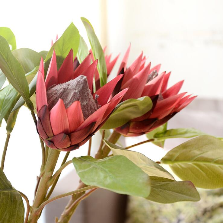 Protea Wedding Flowers: Artificial Africa Protea Cynaroides Silk Flowers Flores