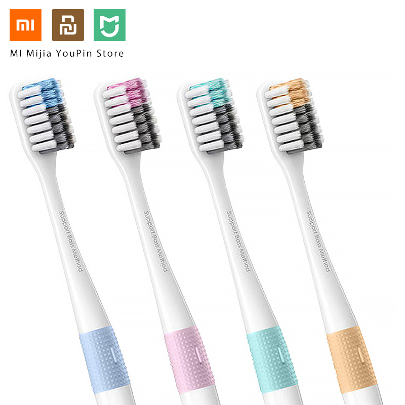 4PCS Xiaomi Doctor Bei Bass Tooth Mi Brush Eco-friendly Tooth Handle Manual MI brush with Travel Box Doctor Bay image