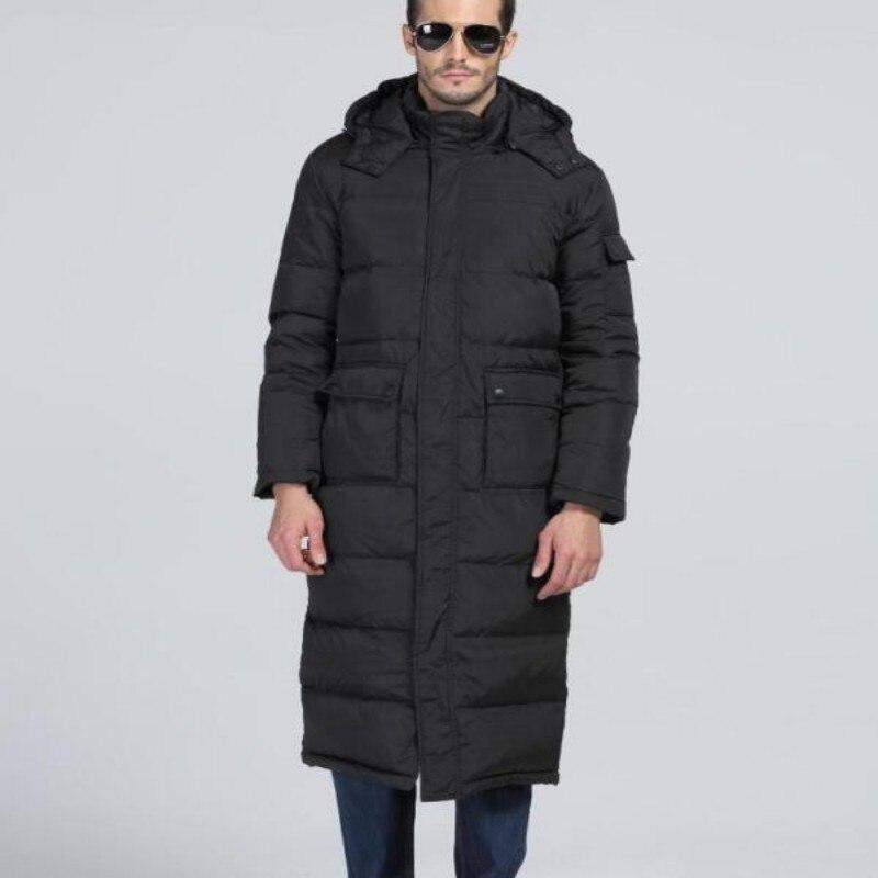 Brand New Top Fashion New Mens Winter Warm Coats Hooded Long Parkas Duck Down Jackets Waterproof Overcoats Plus Size Male 3xl
