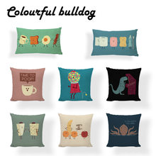 Colorful Creative Candy Octopus Cushion Cover Rock Banana Pillow Cases Camping Large Linen 30x50cm Support Summer Fox Covers(China)