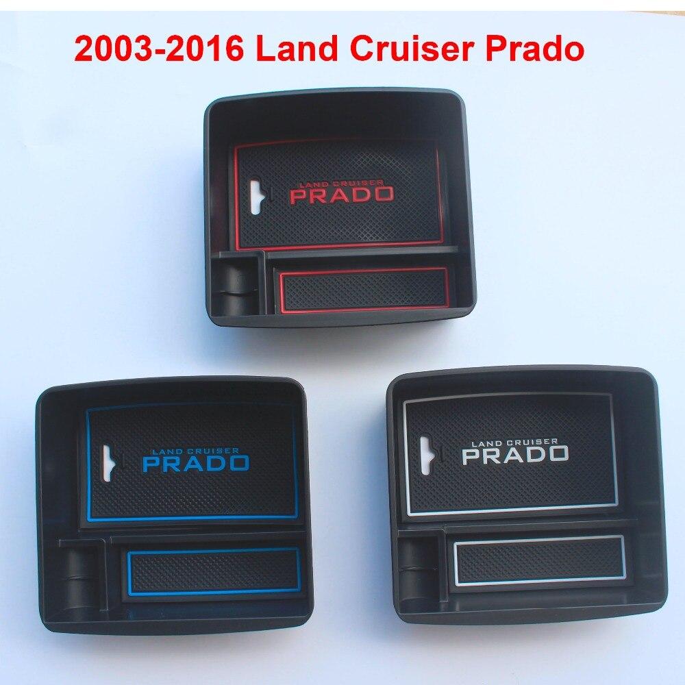 2003-2016 Car Interior Refrigerator Storage Box For Toyota Land Cruiser Prado FJ 150 Accessories 3m oem car body sticker for toyota land cruiser prado fj 150 accessories