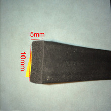 купить 5m x 10mm x 5mm epdm rubber flat foam sponge door window self adhesive sealing strip weatherstrip по цене 739.24 рублей