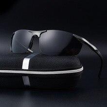 Rimless Sunglasses Men High Quality Black Goggle Eyewear Summer Aluminum Alloy Frame Wayfarer Sports Oculos De Sol Masculino