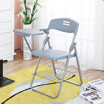 High quality Folding Office Chairs Conference Chairs Writing Chair with Wordpad and book holder