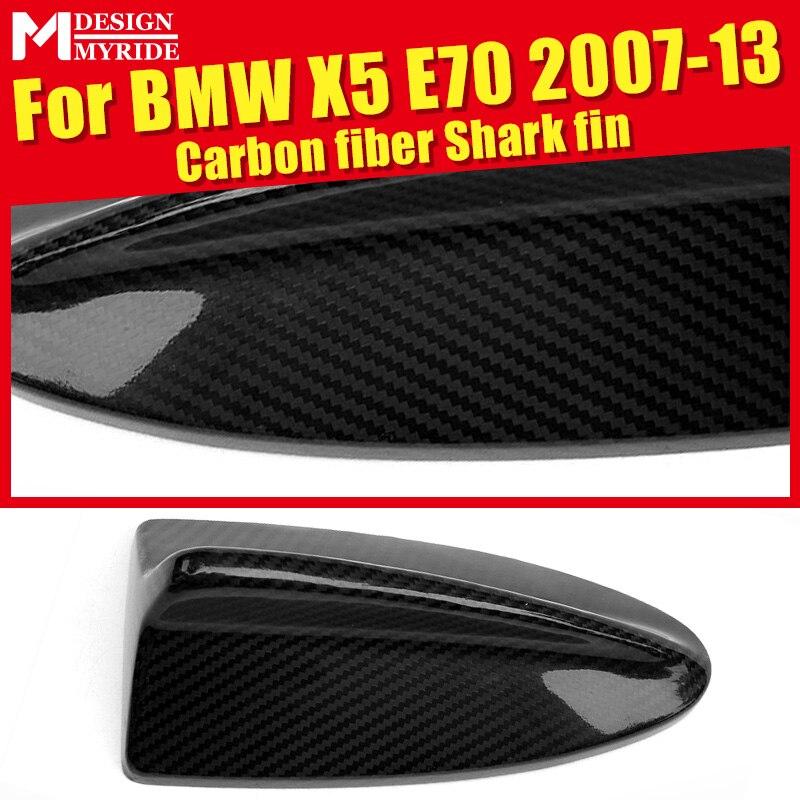 Fit For BMW X5 E70 Carbon Fiber Antenna Cover X-series X5M X6 E71 2007-13 Shark Fin Auto Roof Decorations
