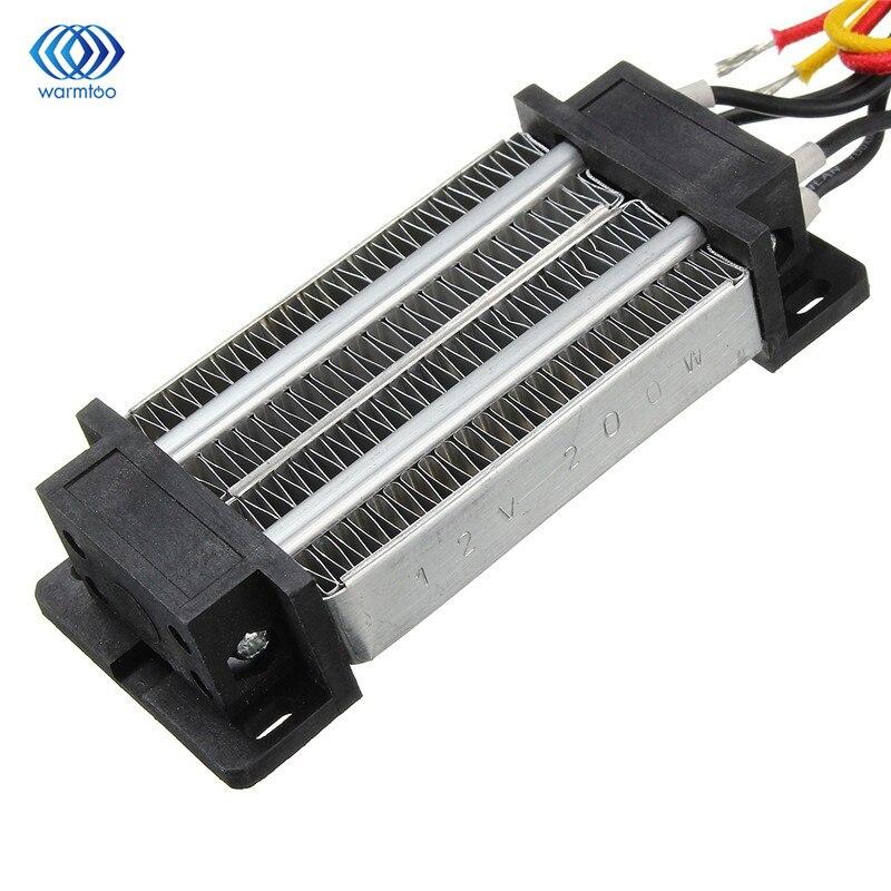 12 فولت 200 واط الكهربائية السيراميك ثرموستاتي PTC التدفئة عنصر سخان معزول مسخن الهواء 120*51*26 مللي متر
