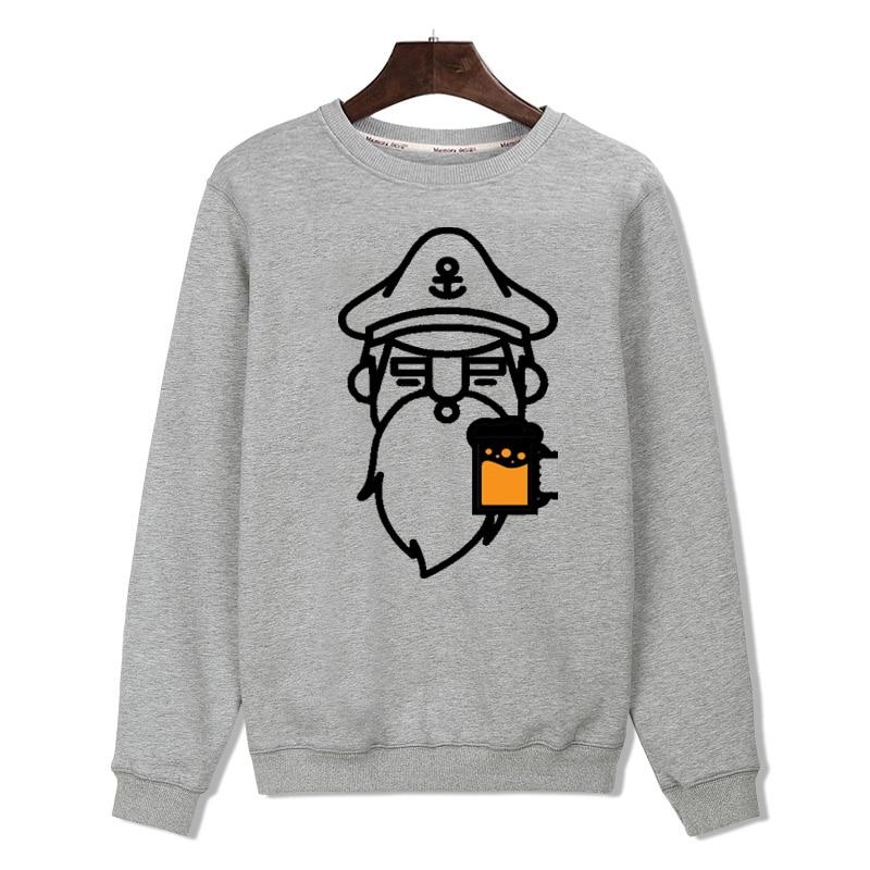 Captain with Beer New Hoodies Men Brand Designer Mens Sweatshirt Men with Hoodies Men Luxury Brand